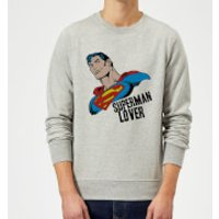 DC Originals Superman Lover Sweatshirt - Grey - S - Grey - Superman Gifts