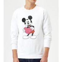 Disney Mickey Mouse Heart Gift Sweatshirt - White - M - White