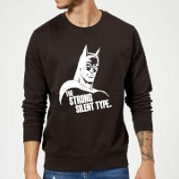 DC Comics Batman The Strong Silent Type Sweatshirt - Black - M - Black - Batman Gifts