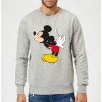 Disney Mickey Mouse Mickey Split Kiss Sweatshirt - Grey - L - Grey