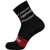 Santini Trek-Segafredo 18 Medium Replica Socks - Red - M-L - Black/Red