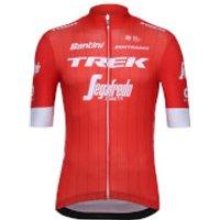 Santini Trek-Segafredo 18 Blend Replica Jersey - Red - L - Red
