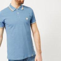 Pretty Green Men's Bassline Short Sleeve Polo Shirt - Mid Blue - S - Blue