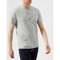 Pretty Green Mens Spinnaker Logo T-Shirt - Grey - XL - Grey