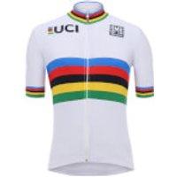 Santini UCI World Champion Jersey 2018 - White - L - White
