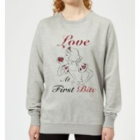 Disney Princess Snow White Love At First Bite Women's Sweatshirt - Grey - XL - Grey - Snow White Gifts