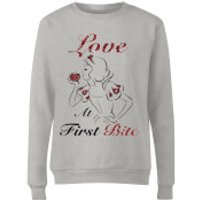 Disney Princess Snow White Love At First Bite Women's Sweatshirt - Grey - XXL - Grey - Snow White Gifts