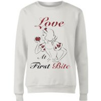 Disney Princess Snow White Love At First Bite Women's Sweatshirt - White - XXL - White - Snow White Gifts
