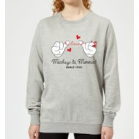 Disney Mickey Mouse Love Hands Women's Sweatshirt - Grey - S - Grey