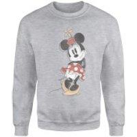 Disney Mickey Mouse Minnie Mouse Offset Sweatshirt - Grey - S - Grey