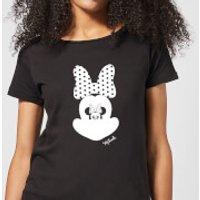 Disney Mickey Mouse Minnie Mouse Mirror Ilusion Women's T-Shirt - Black - 4XL - Black