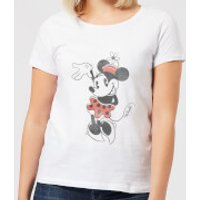 Disney Mickey Mouse Minnie Mouse Waving Women's T-Shirt - White - 4XL - White