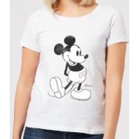 Disney Mickey Mouse Walking Women's T-Shirt - White - 3XL - White - Walking Gifts