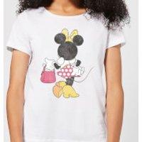 7b5aec05a Camiseta Disney Mickey Mouse Minnie Pose Espalda - Mujer - Blanco - XXL -  Blanco