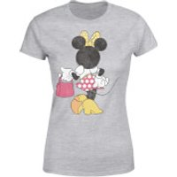 Disney Mickey Mouse Minnie Mouse Back Pose Women's T-Shirt - Grey - XXL - Grey - Minnie Mouse Gifts