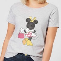Disney Mickey Mouse Minnie Mouse Back Pose Women's T-Shirt - Grey - XL - Grey - Minnie Mouse Gifts