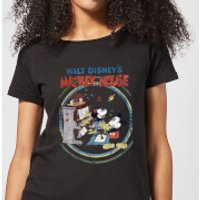 Disney Mickey Mouse Retro Poster Piano Women's T-Shirt - Black - 5XL - Black - Piano Gifts