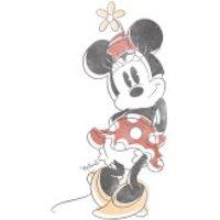 Disney Mickey Mouse Minnie Offset Women's T-Shirt - White - S - White