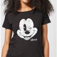 Disney Mickey Mouse Worn Face Women's T-Shirt - Black - 5XL - Black