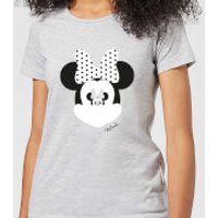 Disney Mickey Mouse Minnie Mouse Mirror Ilusion Women's T-Shirt - Grey - XL - Grey - Minnie Mouse Gifts