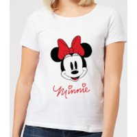 Disney Mickey Mouse Minnie Face Women's T-Shirt - White - XS - White