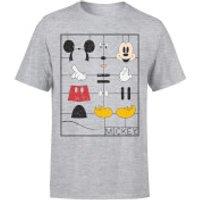 Disney Mickey Mouse Construction Kit T-Shirt - Grey - XXL - Grey - Construction Gifts
