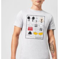 Disney Mickey Mouse Construction Kit T-Shirt - Grey - XL - Grey - Construction Gifts