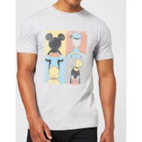 Disney Mickey Mouse Donald Duck Mickey Mouse Pluto Goofy Tiles T-Shirt - Grey - S - Grey