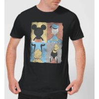 Disney Mickey Mouse Donald Duck Mickey Mouse Pluto Goofy Tiles T-Shirt - Black - 4XL - Black