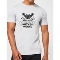 Disney Mickey Mouse Mirrored T-Shirt - Grey - 4XL - Grey