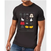 Disney Mickey Mouse Construction Kit T-Shirt - Black - XXL - Black