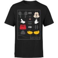 Disney Mickey Mouse Construction Kit T-Shirt - Black - S - Black