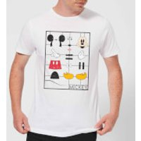 Disney Mickey Mouse Construction Kit T-Shirt - White - XL - White - Construction Gifts