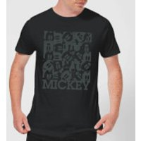 Disney Mickey Mouse Block Grid T-Shirt - Black - XL - Black - Mickey Mouse Gifts