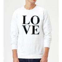 Love Textured Sweatshirt - White - M - White