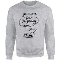 I'd Pause My Game For You (Fr) Sweatshirt - Grey - M - Grey
