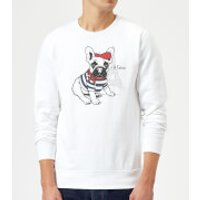 Je T'aime Frenchie Sweatshirt - White - XL - White