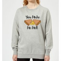 You Make Me Melt Women's Sweatshirt - Grey - XL - Grey