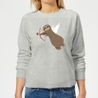 Sloth Cupid Women's Sweatshirt - Grey - M - Grey