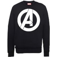 Marvel Avengers Assemble Simple Logo Sweatshirt - Black - XL - Black