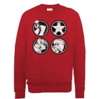 Marvel Avengers Assemble Main Logos Sweatshirt - Red - XXL - Red