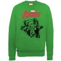 Marvel Avengers Assemble Team Burst Sweatshirt - Green - M - Green
