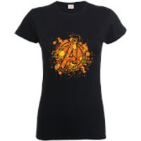 Marvel Avengers Assemble Halloween Spider Logo Women's T-Shirt - Black - XXL - Black - Halloween Gifts