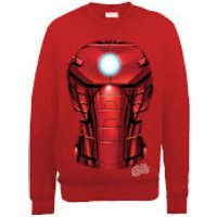 Marvel Avengers Assemble Iron Man Chest Burst Sweatshirt - Red - S - Red
