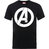 Marvel Avengers Simple Logo T-Shirt - Black - XL - Black - Simple Gifts