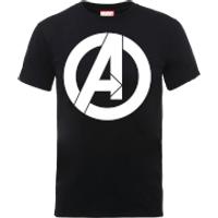 Marvel Avengers Simple Logo T-Shirt - Black - XXL - Black - Simple Gifts