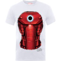 Marvel Avengers Assemble Iron Man Chest Burst T-Shirt - White - XXL - White - Iron Man Gifts