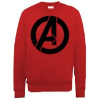 Marvel Avengers Assemble Simple Logo Sweatshirt - Red - XXL - Red - Simple Gifts