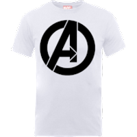 Marvel Avengers Simple Logo T-Shirt - White - XXL - White - Simple Gifts