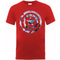 Marvel Avengers Assemble Captain America Shield Montage T-Shirt - Red - XXL - Red
